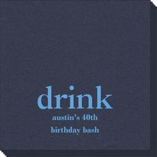 Big Word Drink Linen Like Napkins