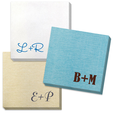 Large Initials Bamboo Luxe Napkins