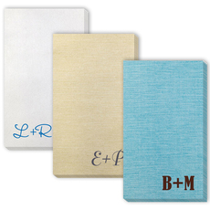 Large Initials Bamboo Luxe Guest Towels