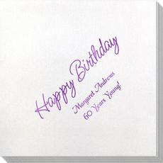 Perfect Happy Birthday Bamboo Luxe Napkins
