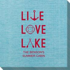 Live, Love, Lake Bamboo Luxe Napkins