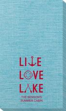 Live, Love, Lake Bamboo Luxe Guest Towels