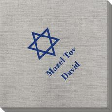 Traditional Star of David Bamboo Luxe Napkins