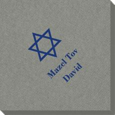 Traditional Star of David Linen Like Napkins