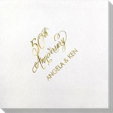 Elegant 50th Anniversary Bamboo Luxe Napkins