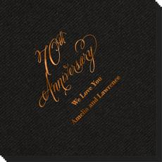 Elegant 70th Anniversary Linen Like Napkins