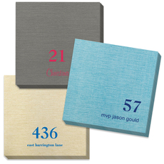 Design Your Own Big Number Bamboo Luxe Napkins