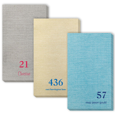 Design Your Own Big Number Bamboo Luxe Guest Towels
