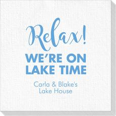 Relax We're on Lake Time Deville Napkins