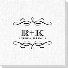 Courtyard Scroll with Initials Deville Napkins