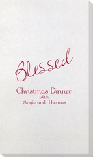 Expressive Script Blessed Bamboo Luxe Guest Towels