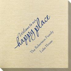 Welcome to Our Happy Place Bamboo Luxe Napkins