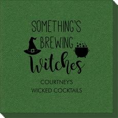 Something's Brewing Witches Linen Like Napkins