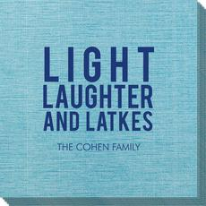 Light Laughter And Latkes Bamboo Luxe Napkins