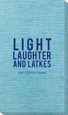 Light Laughter And Latkes Bamboo Luxe Guest Towels