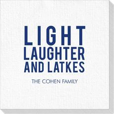 Light Laughter And Latkes Deville Napkins