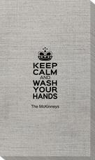 Keep Calm and Wash Your Hands Bamboo Luxe Guest Towels