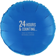 24 Hours and Counting Mylar Balloons