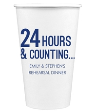 24 Hours and Counting Paper Coffee Cups