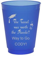 Tassel Hassle Colored Shatterproof Cups