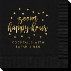 Confetti Dot Zoom Happy Hour Napkins