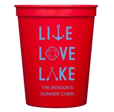 Live, Love, Lake Stadium Cups