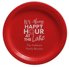 Happy Hour at the Lake Paper Plates