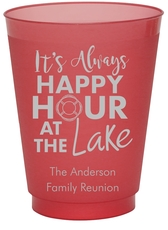 Happy Hour at the Lake Colored Shatterproof Cups