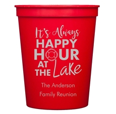 Happy Hour at the Lake Stadium Cups