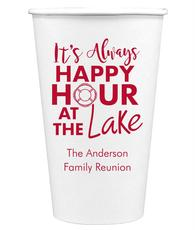 Happy Hour at the Lake Paper Coffee Cups