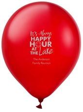 Happy Hour at the Lake Latex Balloons