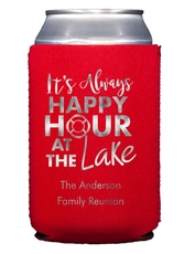 Happy Hour at the Lake Collapsible Koozies