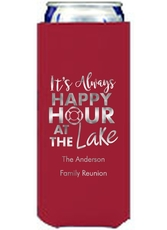 Happy Hour at the Lake Collapsible Slim Koozies