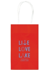 Live, Love, Lake Medium Twisted Handled Bags