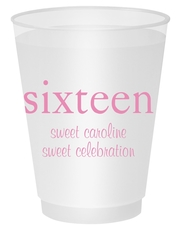 Big Number Sixteen Shatterproof Cups
