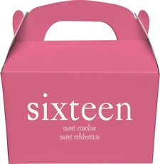 Big Number Sixteen Gable Favor Boxes