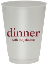 Big Word Dinner Colored Shatterproof Cups