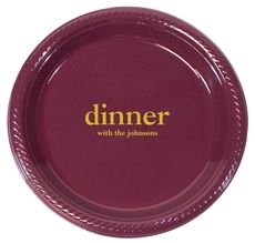 Big Word Dinner Plastic Plates