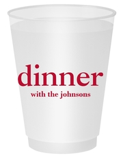 Big Word Dinner Shatterproof Cups
