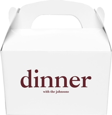 Big Word Dinner Gable Favor Boxes
