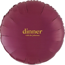 Big Word Dinner Mylar Balloons