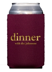 Big Word Dinner Collapsible Koozies