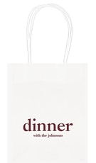 Big Word Dinner Mini Twisted Handled Bags