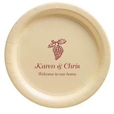 Vineyard Grapes Paper Plates
