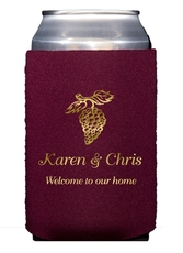 Vineyard Grapes Collapsible Koozies