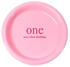 Big Number One Plastic Plates