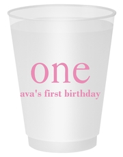 Big Number One Shatterproof Cups