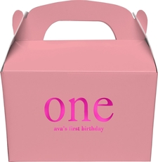 Big Number One Gable Favor Boxes