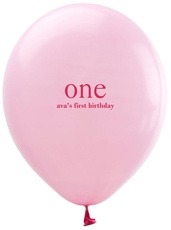 Big Number One Latex Balloons