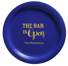 The Bar is Open Paper Plates